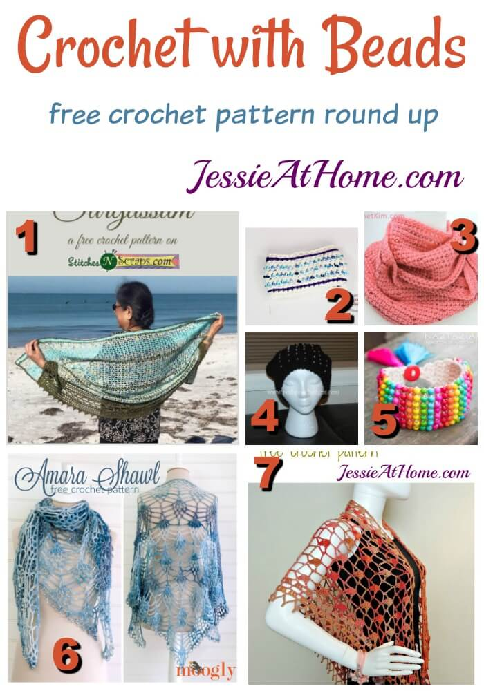 Crochet with Beads free crochet pattern round up from Jessie At Home