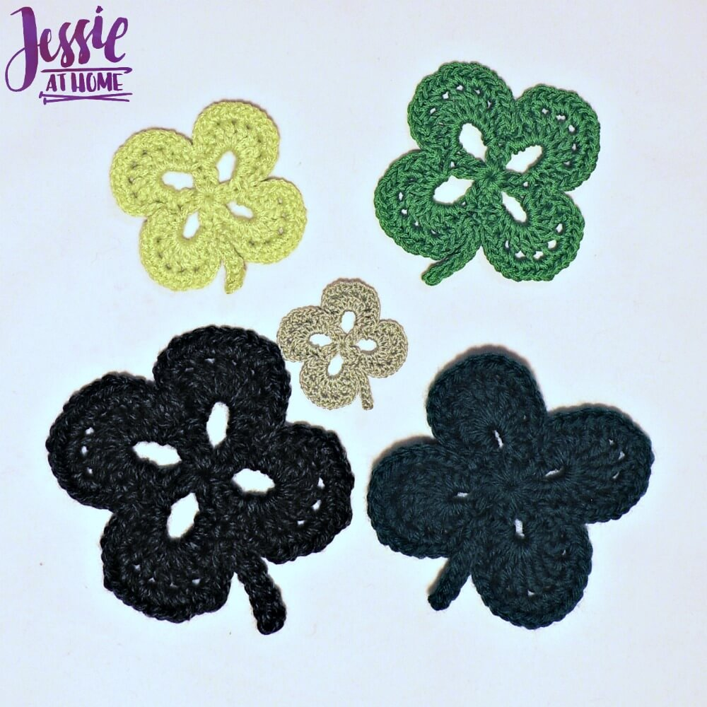 Four Leaf Clover free crochet pattern by Jessie At Home - 1