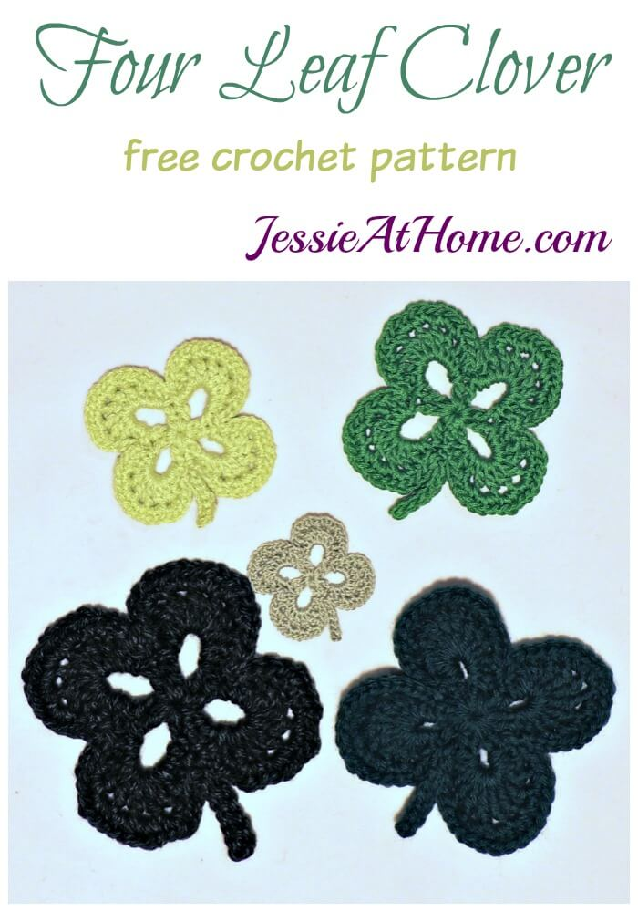Four Leaf Clover free crochet pattern by Jessie At Home