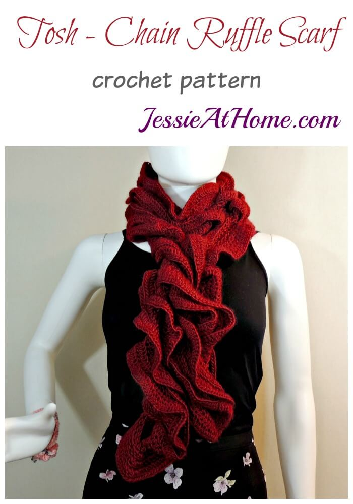 Tosh - Chain Ruffle Scarf - crochet pattern by Jessie At Home