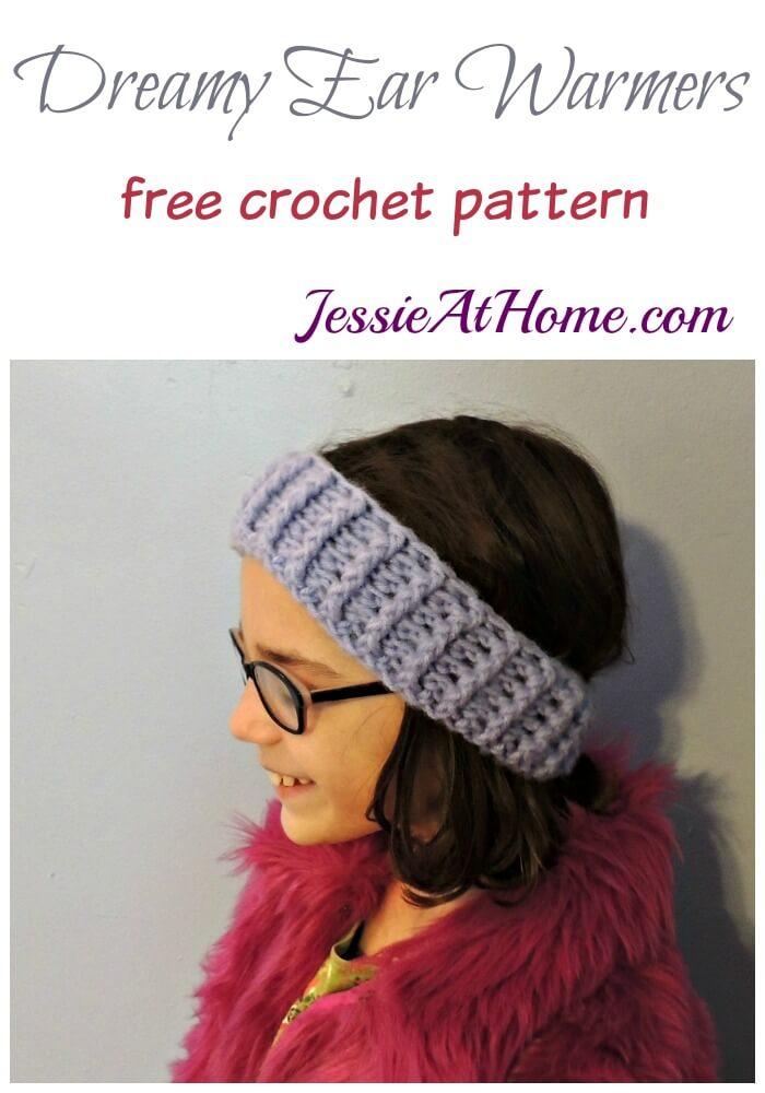 Dreamy Ear Warmers - free crochet pattern by Jessie At Home