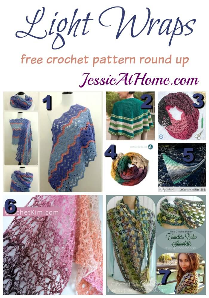 Light Wraps free crochet pattern round up from Jessie At Home