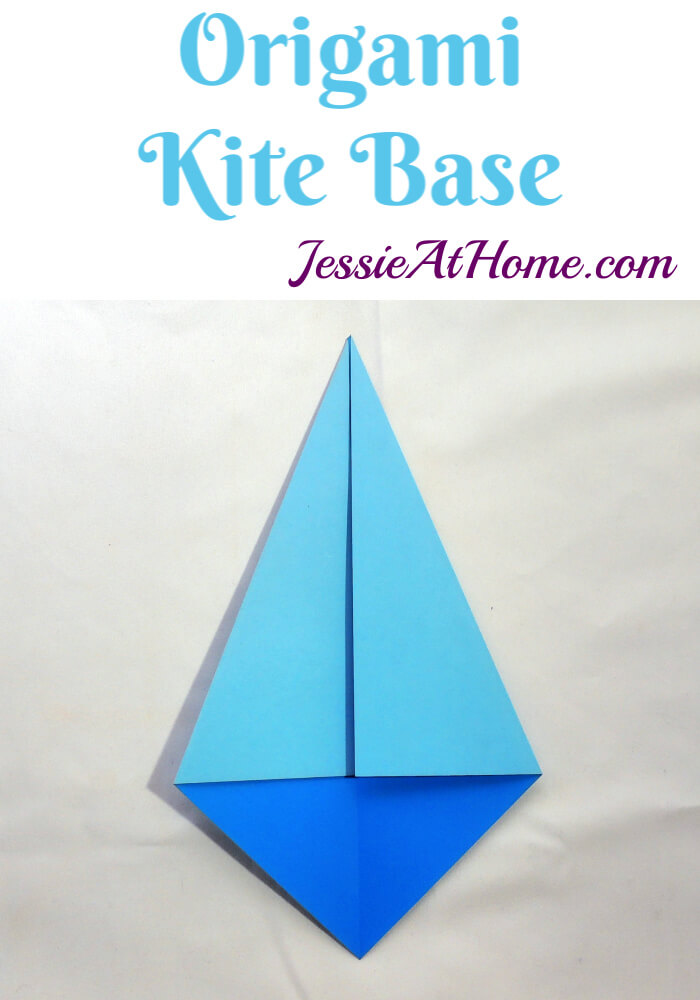 Origami Kite Base - written and pictorial tutorial