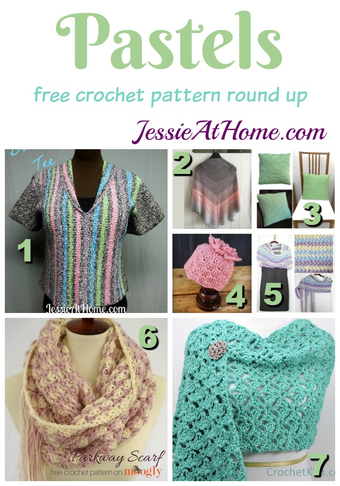 Pastels free crochet pattern round up from Jessie At Home