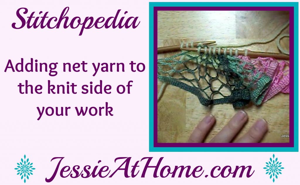 Stitchopedia - adding net yarn to the knit side of your work video cover