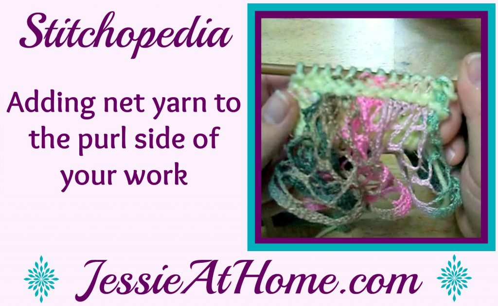 Stitchopedia - adding net yarn to the purl side of your work video cover