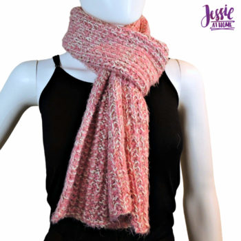 Broken Rib Scarf - knit pattern by Jessie At Home - 4
