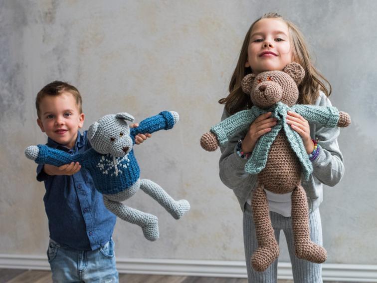 Dressed Up Bears Bluprint Crochet Kit