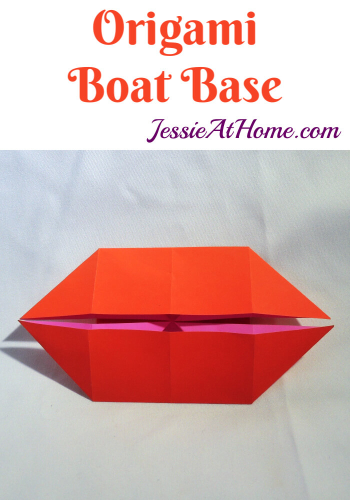 Origami Boat Base - written and pictorial tutorial