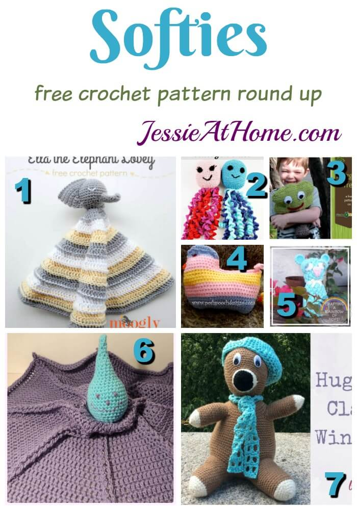 Softies free crochet pattern round up from Jessie At Home
