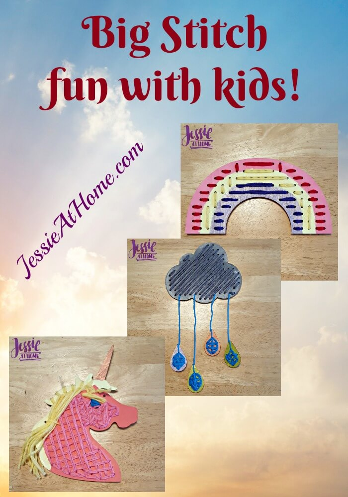 Unicorn Magic Big Stitch fun with kids from Jessie At Home