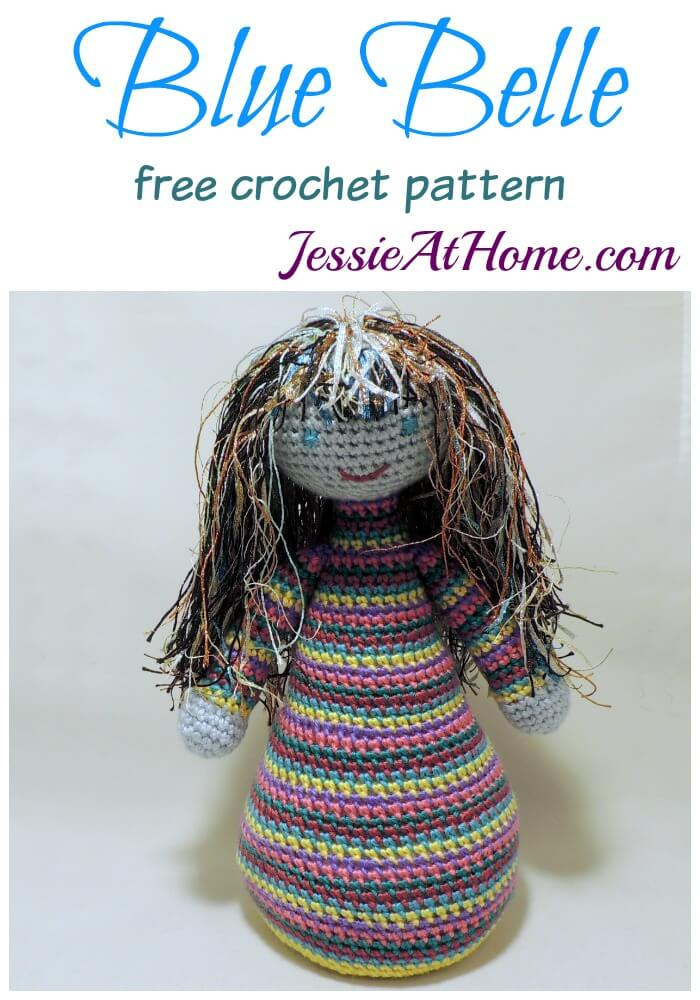 Blue Belle free crochet pattern by Jessie At Home
