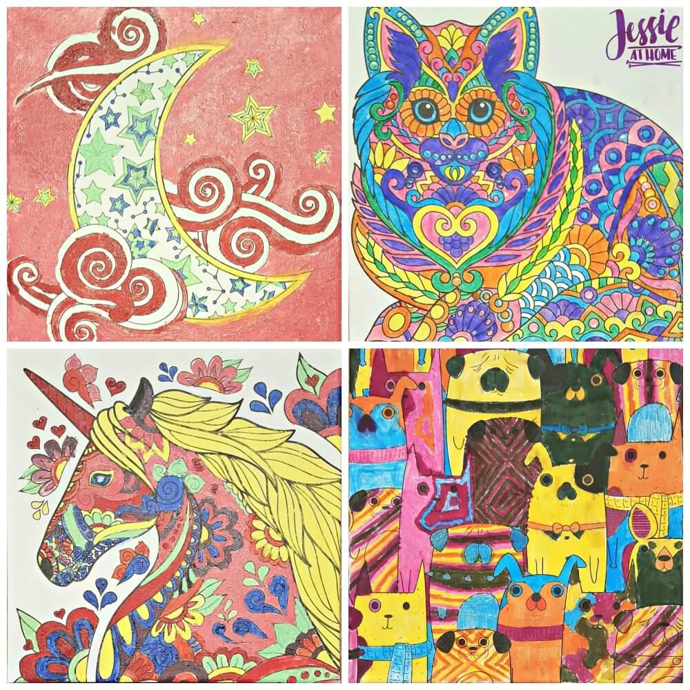 Canvas Art kits from Royal & Langnickel done