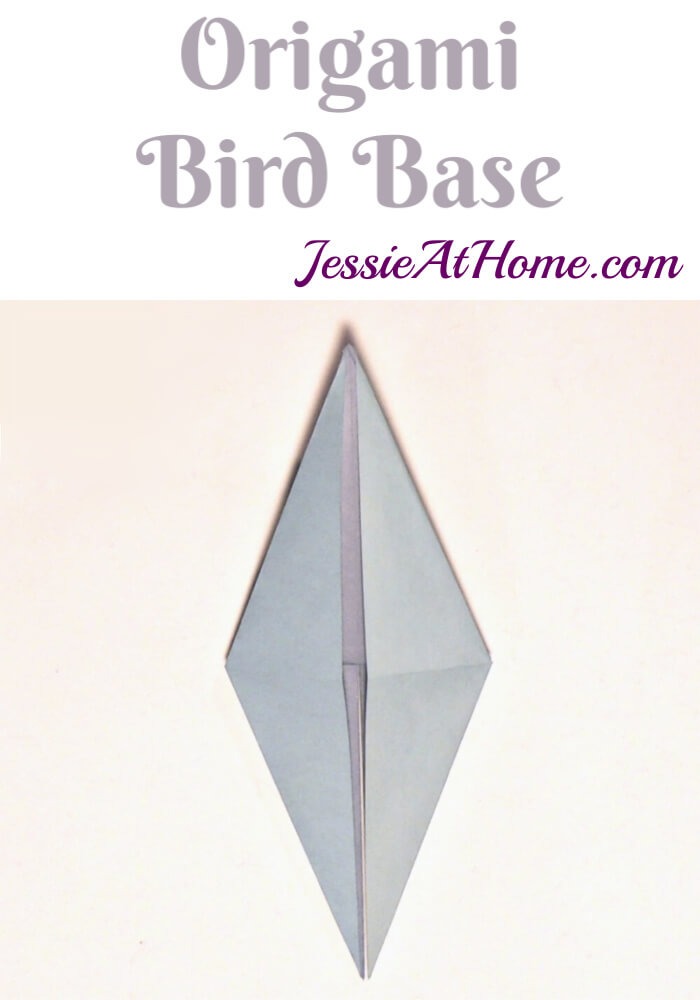 Origami Bird Base - written and pictorial tutorial