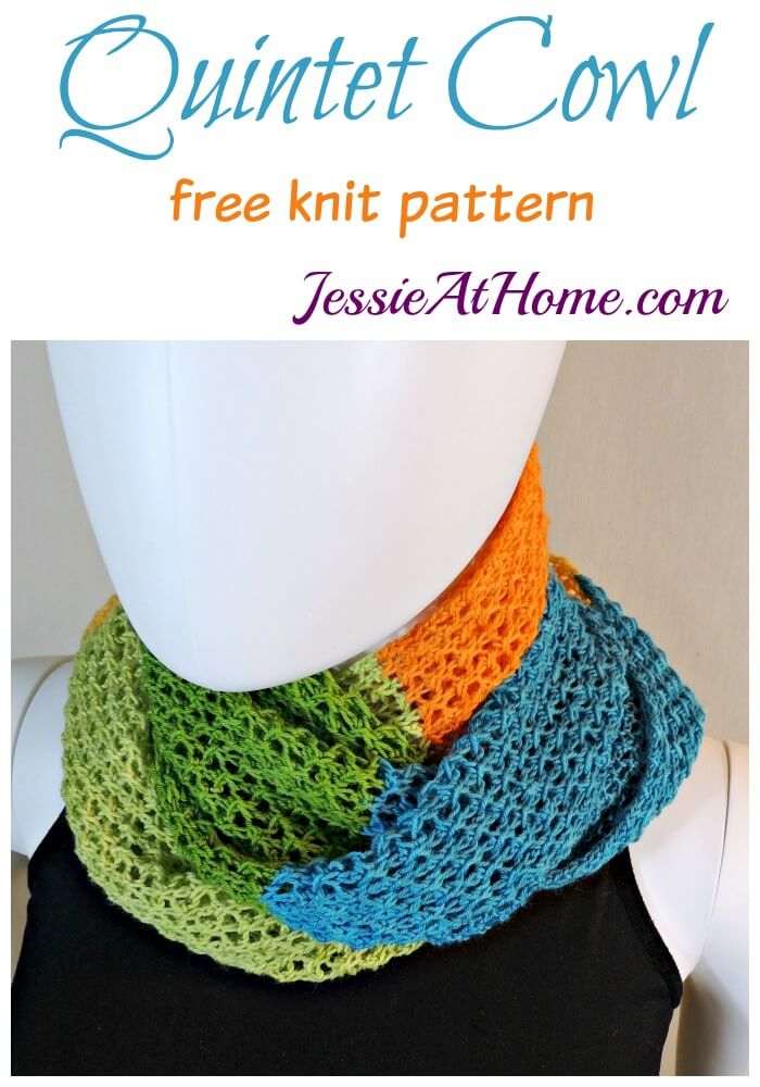Quintet Cowl free knit pattern by Jessie At Home