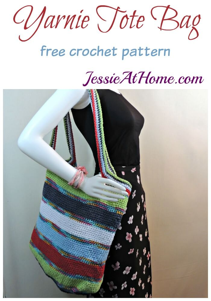 Yarnie Tote Bag - free crochet pattern by Jessie At Home