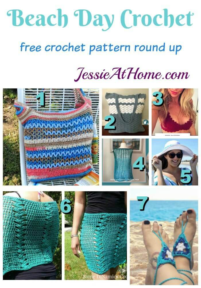 Beach Day Crochet free crochet pattern round up from Jessie At Home