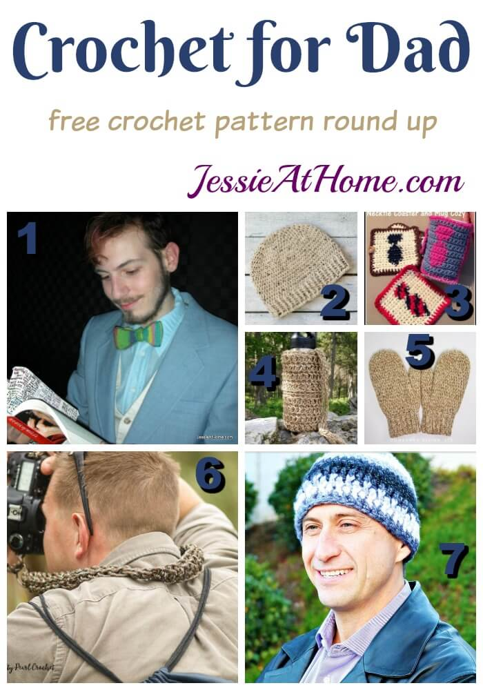 Crochet for Dad free crochet pattern round up from Jessie At Home