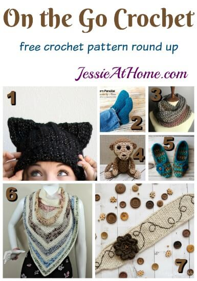 On the Go Crochet free crochet pattern round up from Jessie At Home