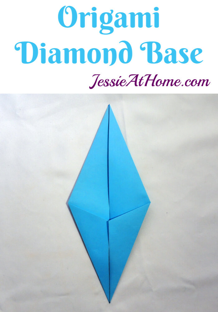 Origami Diamond Base - written and pictorial tutorial