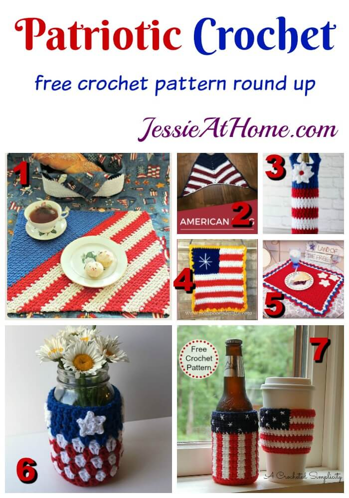 Patriotic Crochet free crochet round up from Jessie At Home