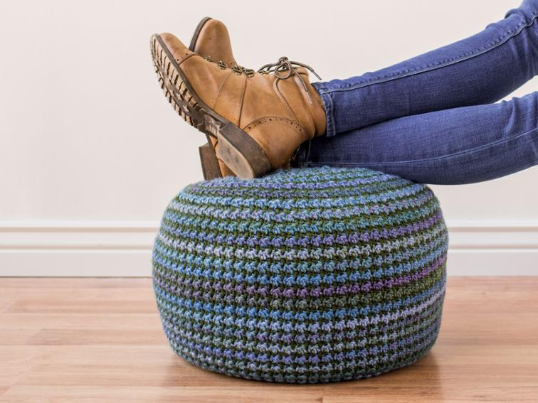Piper Pouf Craftsy Crochet Kit