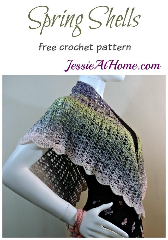 Spring Shells - free crochet pattern by Jessie At Home