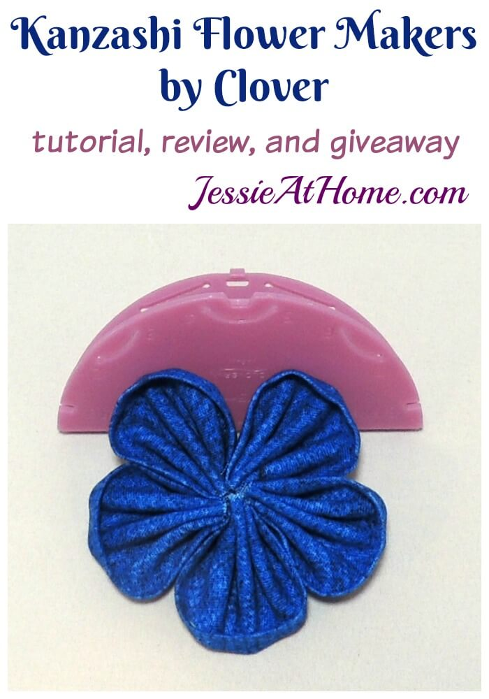 Kanzashi Flower Makers by Clover tutorial and review from Jessie At Home