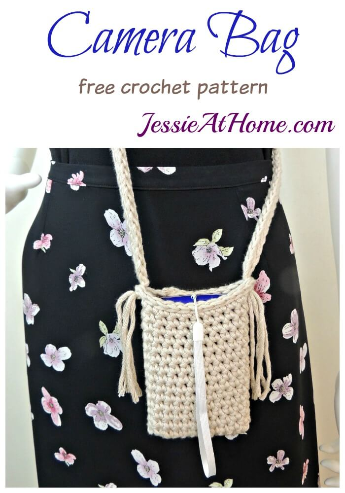 Camera Bag free crochet pattern by Jessie At Home