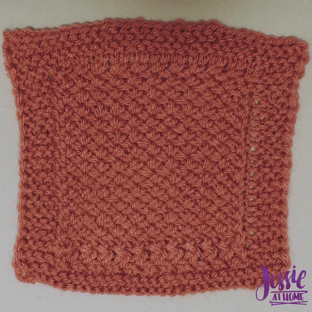 Criss Cross Square - free knit pattern by Jessie At Home - 1
