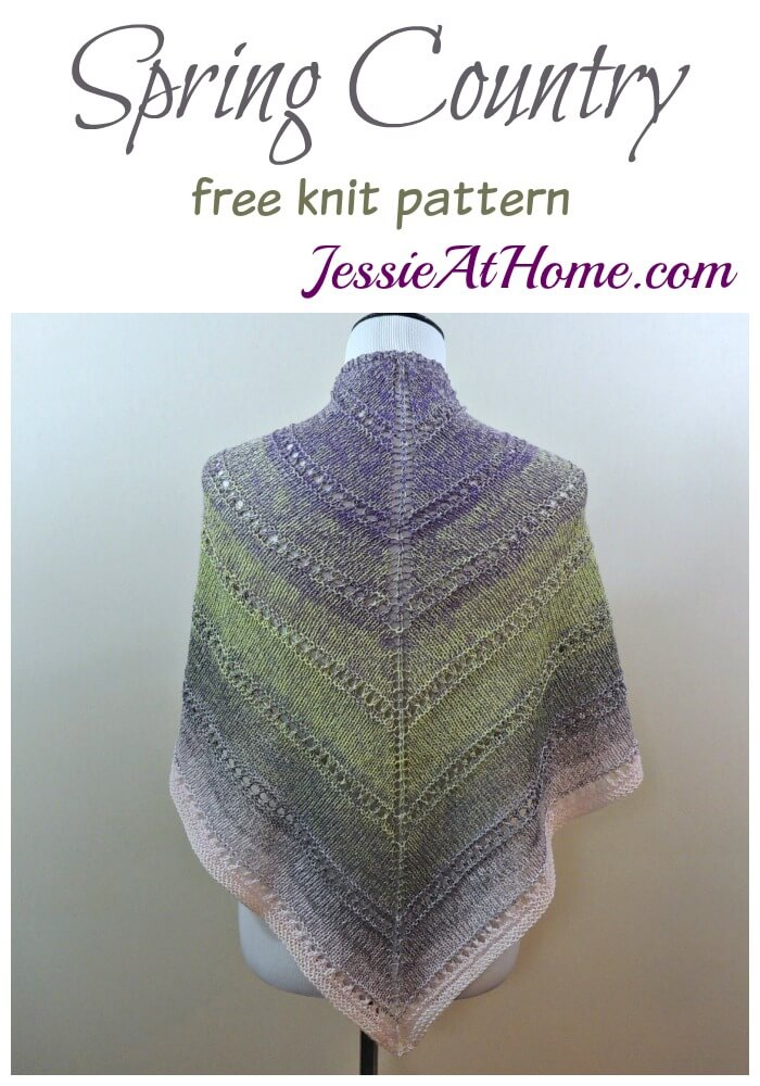 Spring Country free knit pattern by Jessie At Home