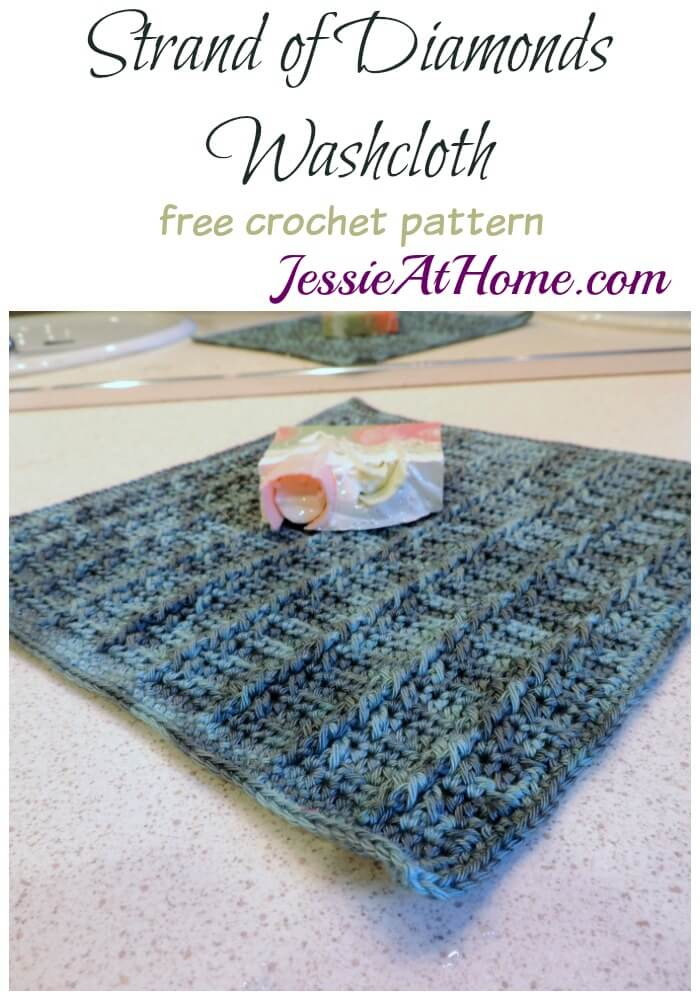Strand of Diamonds Washcloth free crochet pattern by Jessie At Home