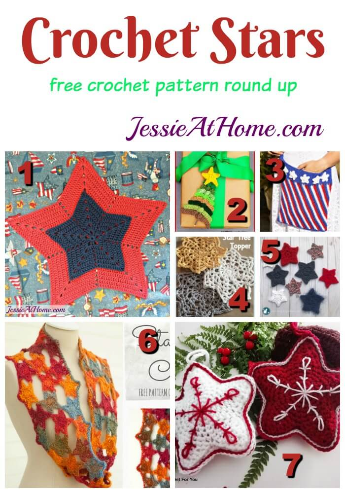 Crochet Stars free crochet pattern round up from Jessie At Home