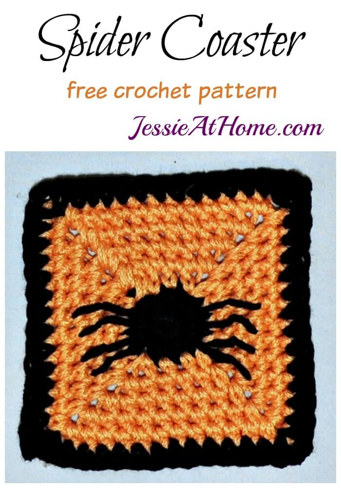Spider Coaster free crochet pattern by Jessie At Home