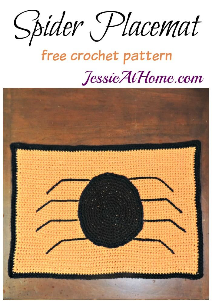 Spider Placemat free crochet pattern by Jessie At Home