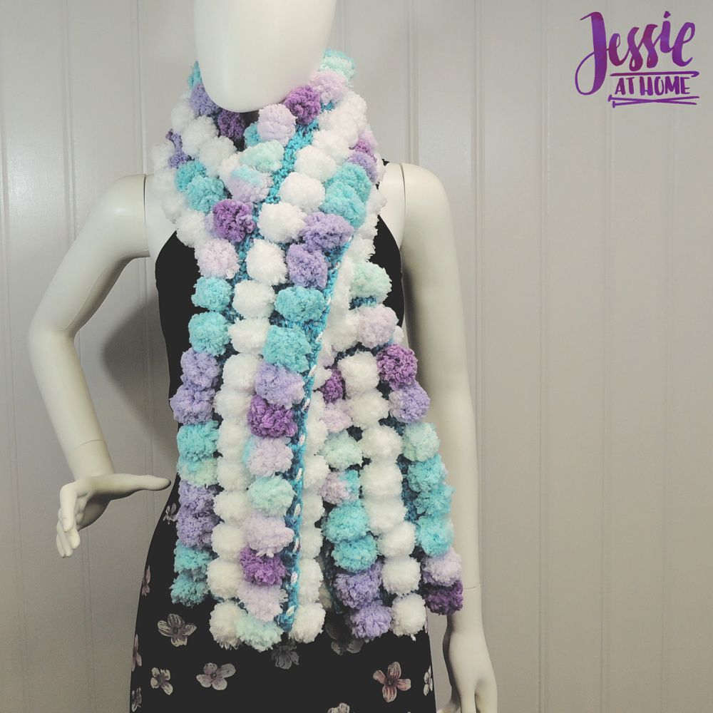 Doodle-Stripe Scarf free crochet pattern by Jessie At Home - 1