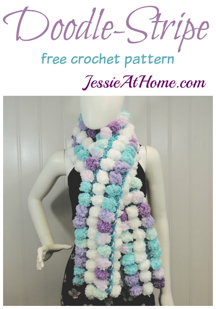 Doodle-Stripe Scarf free crochet pattern by Jessie At Home