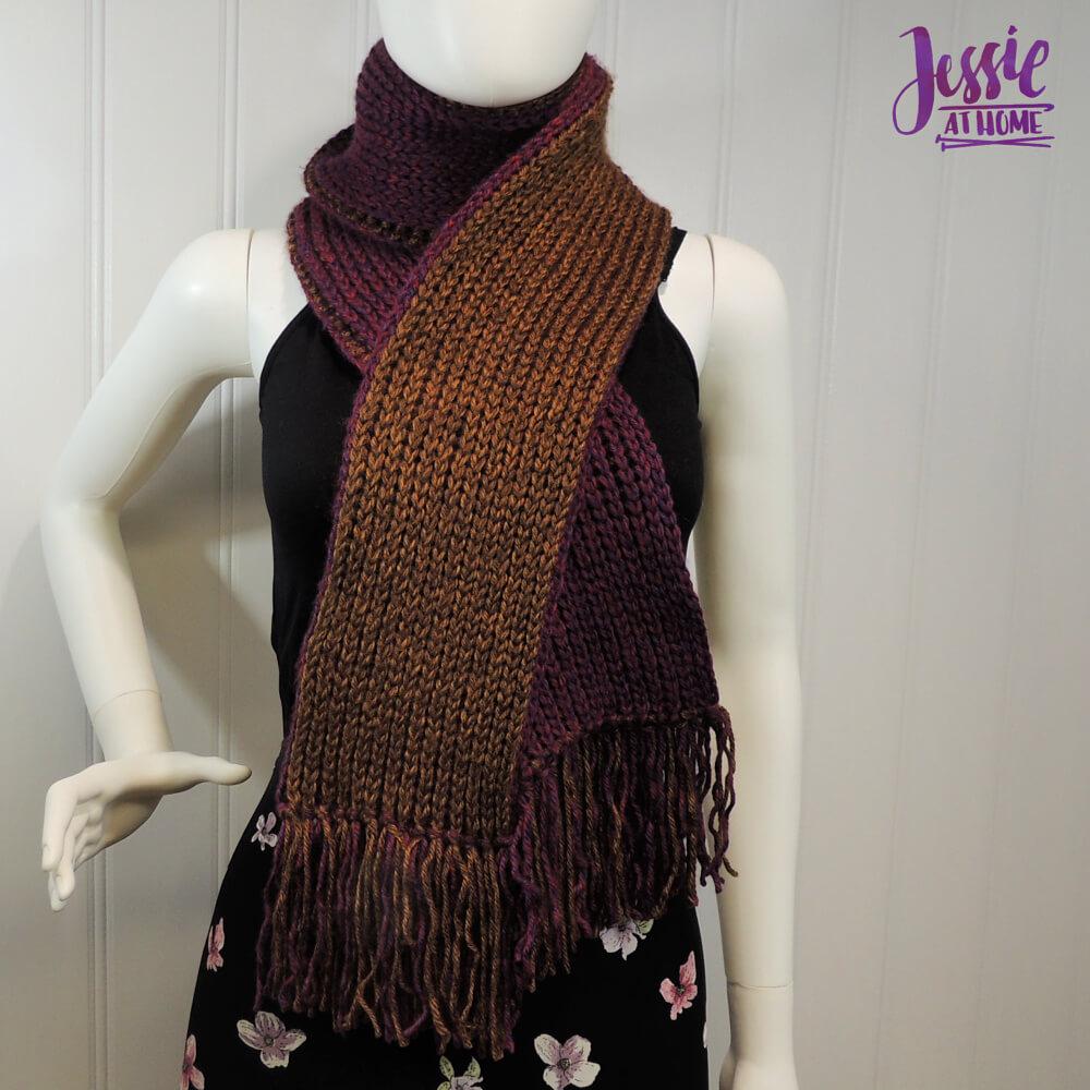 Faux Brioche Scarf free crochet pattern by Jessie At Home - 1