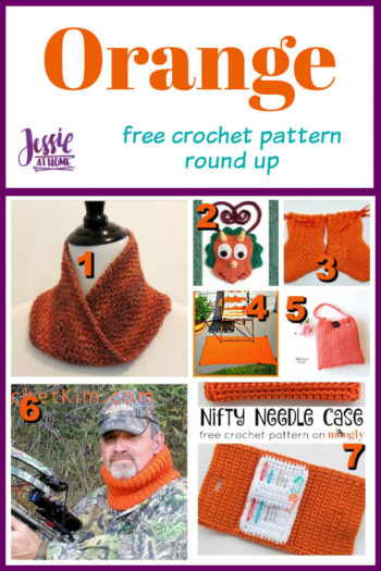 Orange Crochet free crochet pattern round up from Jessie At Home - Pin 1