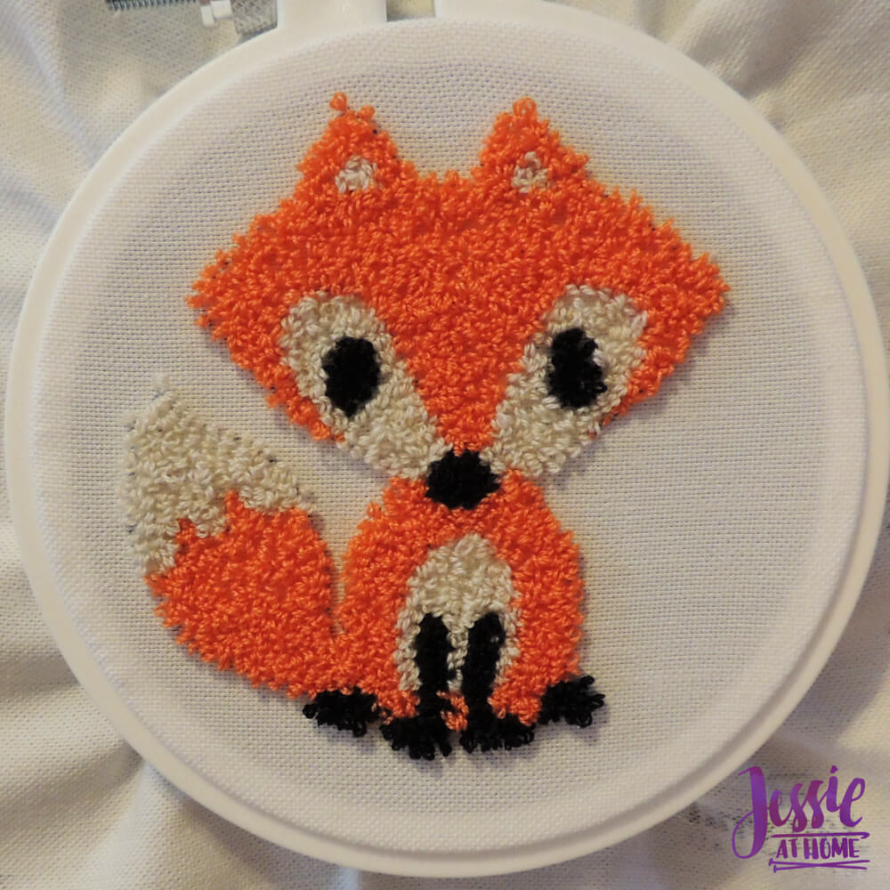 Punch Needle Kit review from Jessie At Home - all done