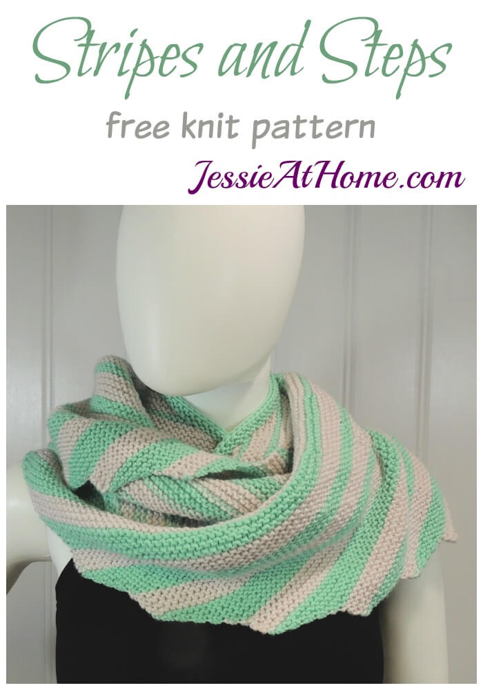 Stripes and Steps free knit pattern by Jessie At Home