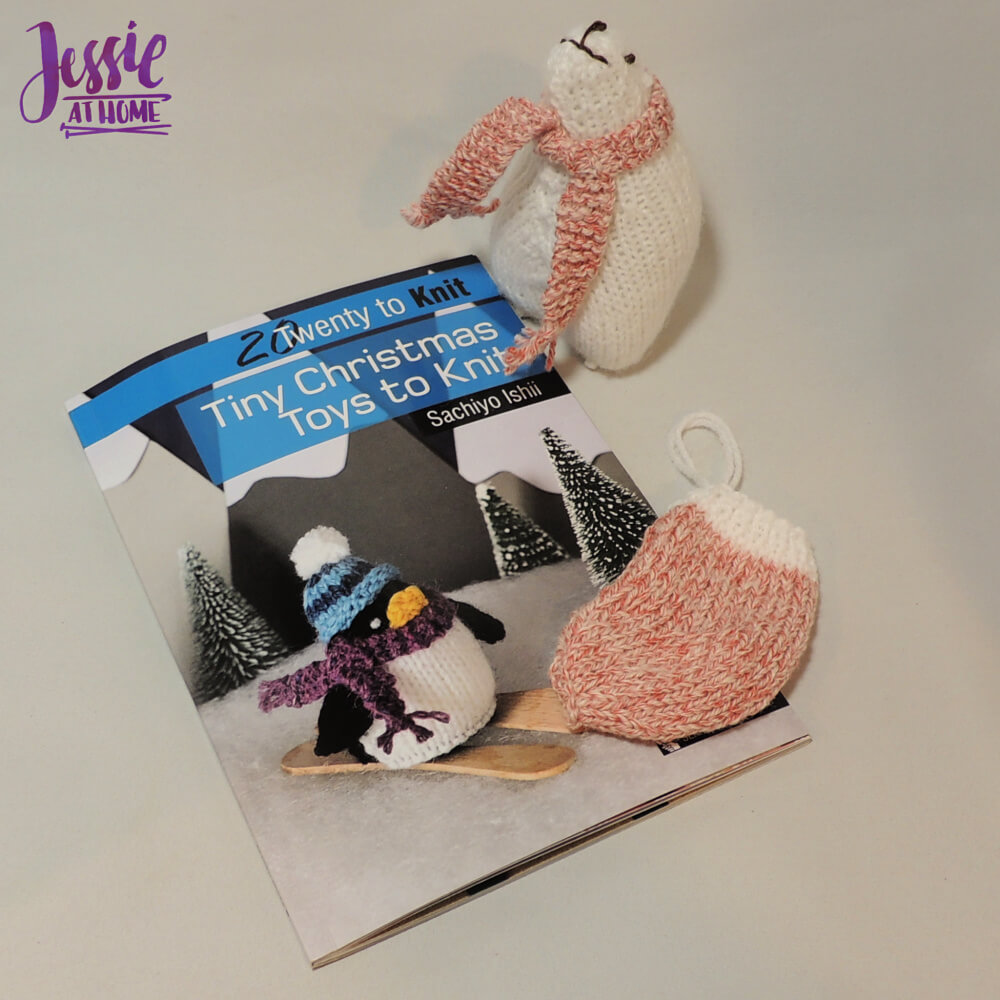 Tiny Christmas Toys to Knit book review and giveaway from Jessie At Home - samples