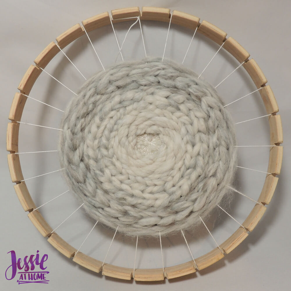 Bucilla Round Weaving Loom review from Jessie At Home - ready to remove