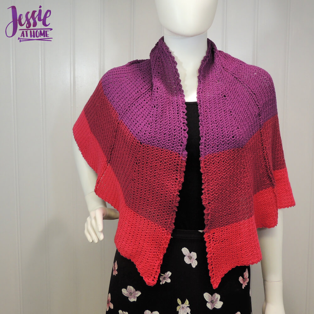 Dragon Wing Crochet Shawl free crochet pattern by Jessie At Home - 1