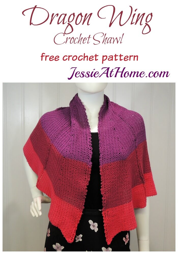 Dragon Wing Crochet Shawl free crochet pattern by Jessie At Home