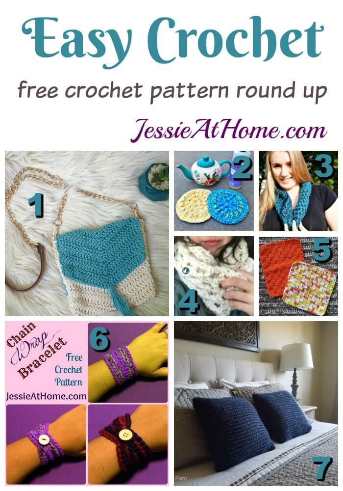 Easy Crochet free crochet pattern round up from Jessie At Home