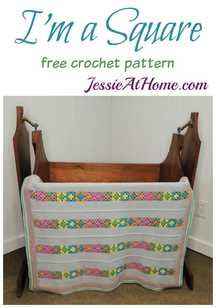 I'm a Square free crochet pattern by Jessie At Home