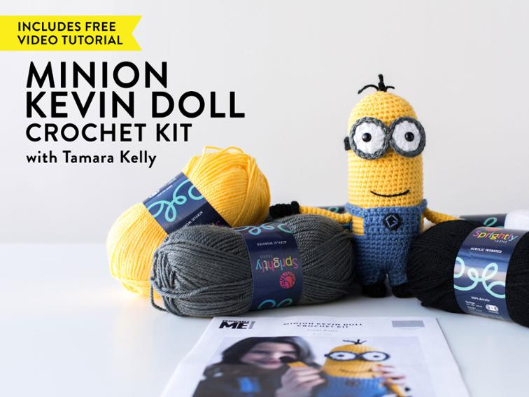 Minion Kevin Doll Craftsy Crochet Kit