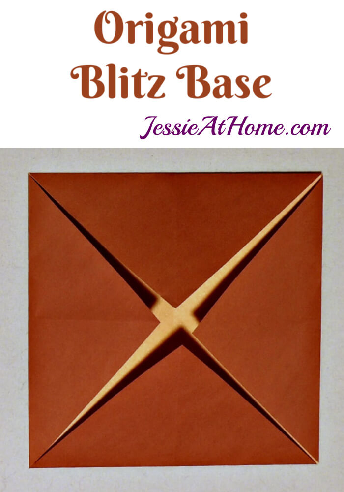 Origami Blintz Base - written and pictorial tutorial