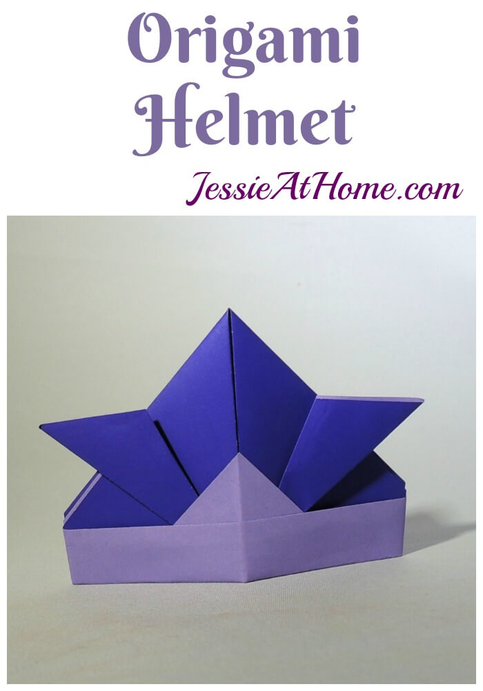 Origami Helmet tutorial from Jessie At Home